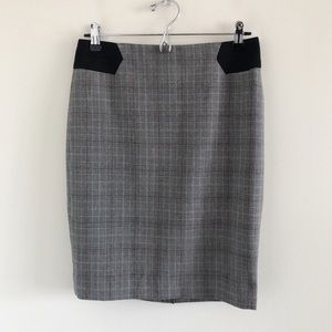 The Limited Factory Glen Plaid Pencil Skirt Size 2